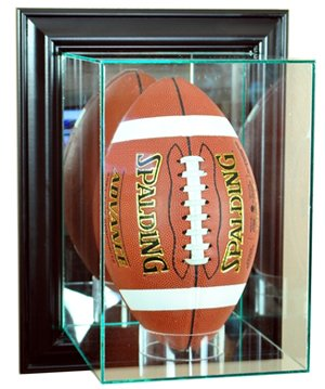 Wall Mounted Football Case (NFL Wall Mounted Upright Football Glass Display Case, Black)