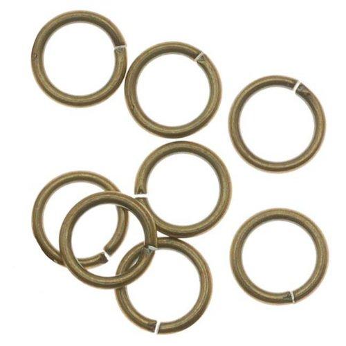 Beadaholique Antiqued Brass Open Jump Rings 5mm 21 Gauge (x100)