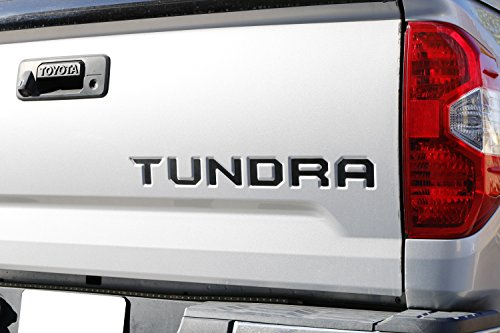 Made w// 1.5mm Hard Plastic not A Paper Decal iJDMTOY Black Finish 3D 6pcs Tailgate Letter Inserts For 2014-up Toyota Tundra