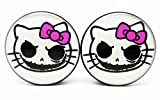 Hello Nightmare Kitty - Acrylic Screw-On - 10 Sizes - Brand New *Pair*