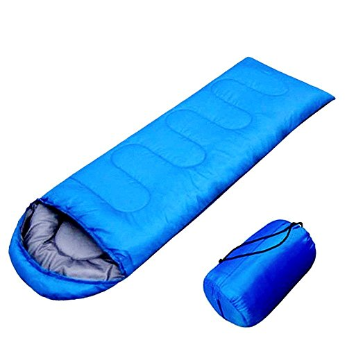 FSDUALWIN Portable Lightweight Sleeping Bag Waterproof Mummy Bag With Compression Sack,Perfect for Man Woman Traveling, Camping, Hiking,Outdoor Activities (Blue)