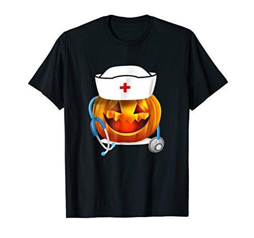 Halloween Pumpkin Scrubs T-Shirt For Nurse -