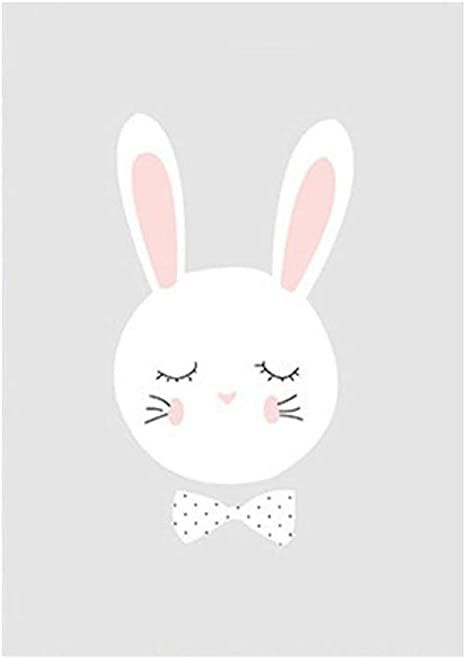 Amazon|WillowswayW ラブリー漫画 ウサギ 星 絵 ウォールポスター 絵 子供部屋 幼稚園の装飾 20*30|ウォールステッカー  オンライン通販