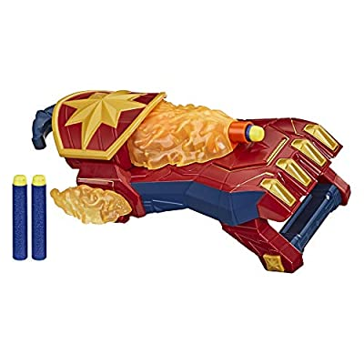 NERF Power Moves Marvel Avengers Captain Marvel Photon Blast Gauntlet NERF Dart-Launching Toy for Kids Roleplay, Toys for Kids Ages 5 and Up: Toys & Games