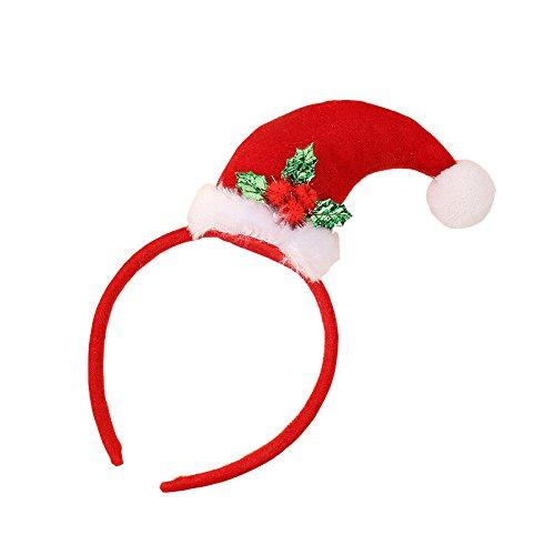 Mini Santa Claus Cap Headwear Christmas Halloween Hair Clip Party Decoration (christmas four) ()