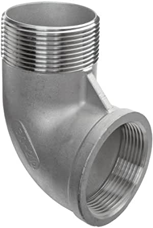 """Stainless Steel 304 Cast Pipe Fitting, 90 Degree Street Elbow, Class 150, 1/4"""" NPT Male X Female"""