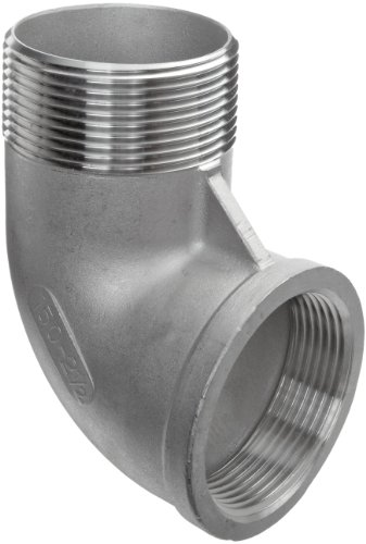 Class 150 Cast - Merit Brass K403-08-5 Stainless Steel 304 Cast Pipe Fitting, 90 degree Street Elbow, Class 150, 1/2