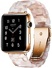 Resin Watch Band with Metal Buckle 40mm 38mm for Apple Watch Series 4 3 2 1