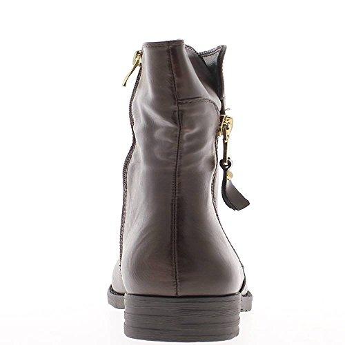Stivali marrone ecopelle tacco 3,5 cm