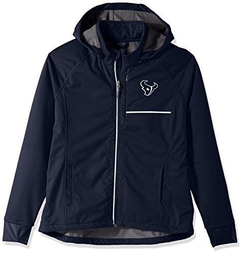 GIII For Her NFL Houston Texans Adult Women Cut Back Soft Shell Jacket, Medium, Navy