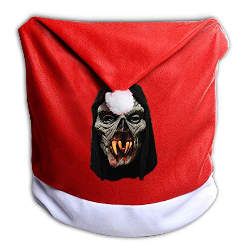 Scary Halloween Vampire Skull Non-Woven Xmas Christmas Themed Dinner Chair Cap Hat Covers Set Ornaments Backers Protector for Seat Slipcovers Wraps Coverings Decorations