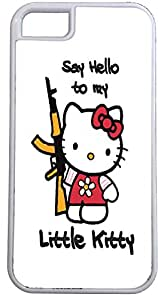 Say Hello to My Little Kitty White 2in1 Hardshell with Rubber Insert Case for iPhone 4/4S