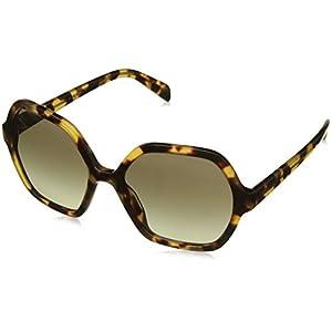 Prada Women's PR 06SS Sunglasses Medium Havana / Green Gradient Grey 56mm