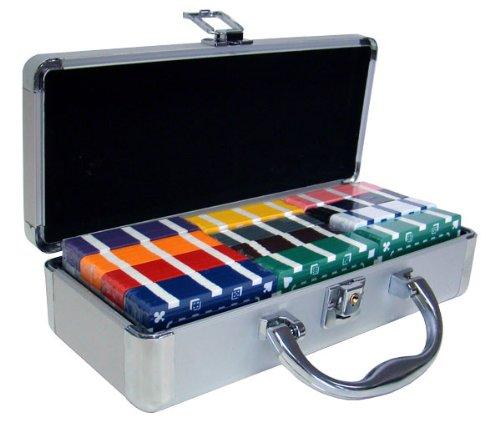 [Brybelly Non-Denominated Rectangular Poker Plaques in Aluminum Case (Set of 60)] (Rectangular Chip)