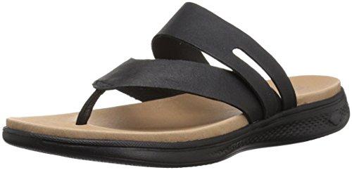 Luxe Skechers Go Women's Sport The Sandals ON Black 6qrrCwx