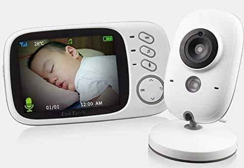 Câmera 3.2 Polegadas De Vídeo Sem Fio - Babá Eletrônica Monitor Do Bebê