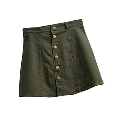 Yoyorule Women's Fashion Waist Skirt Korean Style Denim Skirt
