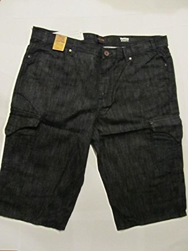Mek Denim Mens Jeans (Mek Denim Men's Varkiza Cargo Short Rinse 38 14)