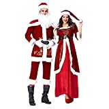 WUYIMC Men Women Christmas Cosplay Suit, Novelty Costume Cosplay Ball Party Xmas Suit