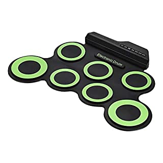 DYHQQ Electronic Drum Set, Roll Up Drum Practice Pad Midi Drum Kit with Headphone Jack Built-in Speaker, Great Holiday Birthday Gift for Kids,C (B07L5LJPNP) | Amazon price tracker / tracking, Amazon price history charts, Amazon price watches, Amazon price drop alerts