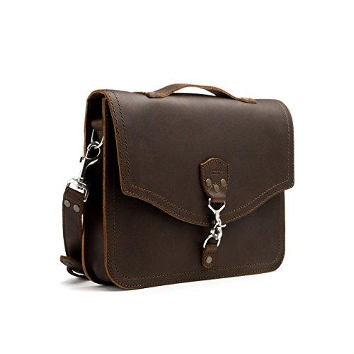 [Saddleback Leather Laptop Bag Dark Coffee Brown] (Medium Bag Dark Coffee)