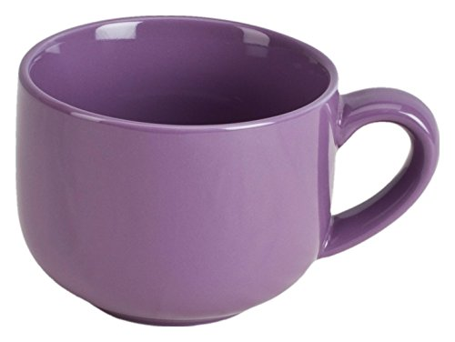 Latte Coffee Mug Cup or Soup Bowl with Handle - Purple Violet ()