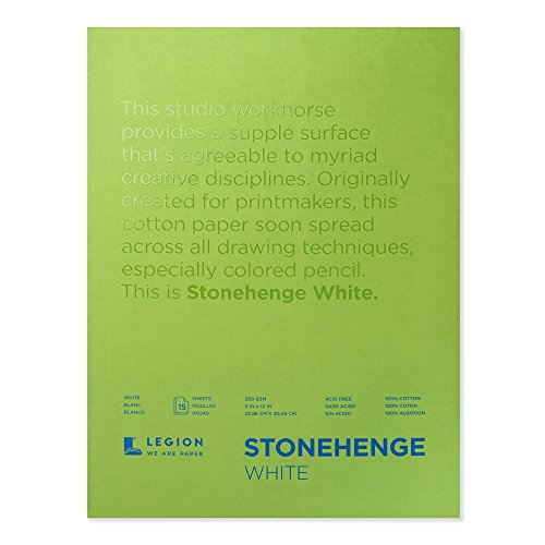 Stonehenge Legion Pad, 9 X 12 inches, White, 15 Sheets (Stonehenge Pad)
