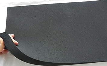 ANRO Goma/ Feinriefen Goma /Esterilla Protectora corrugada Alfombrilla Suelo con Grano Camino de Goma 100/cm 50 x 100cm