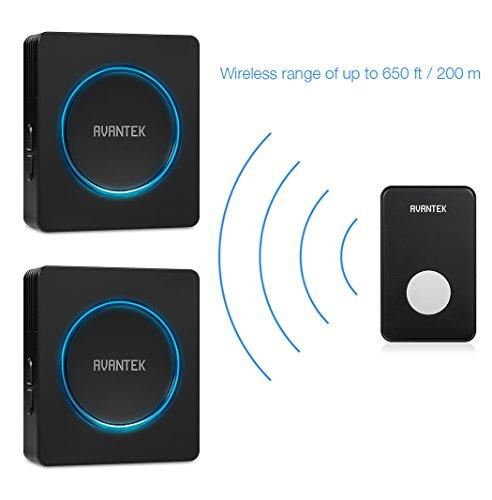 AVANTEK Wireless Doorbell Kit (Black)