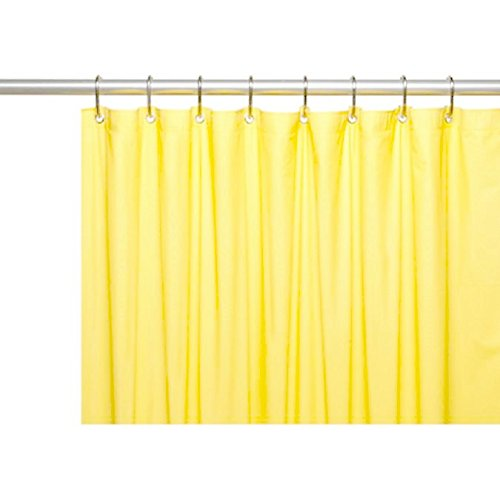 Amazon DINY Bath Elements Heavy Duty Magnetized Shower Curtain Liner Mildew Resistant Yellow Home Kitchen
