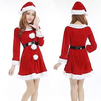 GZ Traje de Navidad Falda de Navidad Roja Vestido de Mujer Sexy ...