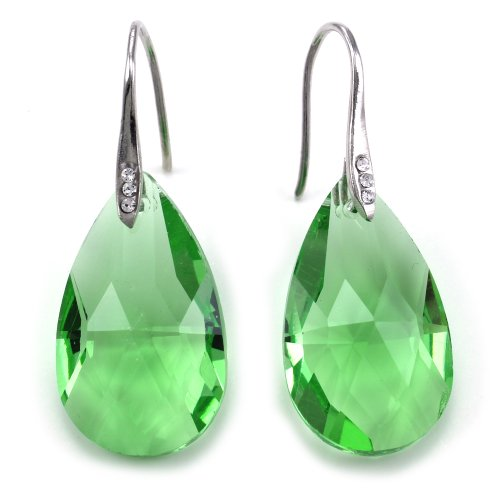 Lime Green Earrings (Colorful Chandelier Teardrop Drop Prom Earrings Dangle Drop Fashion Jewelry (Lime Green))