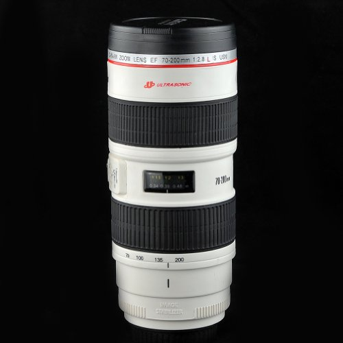 Price comparison product image Mango Spot® Camera 70-200mm F2.8 IS Lens Mug/Lens Coffee Cup 17oz with Stainless Steel Mug Interior