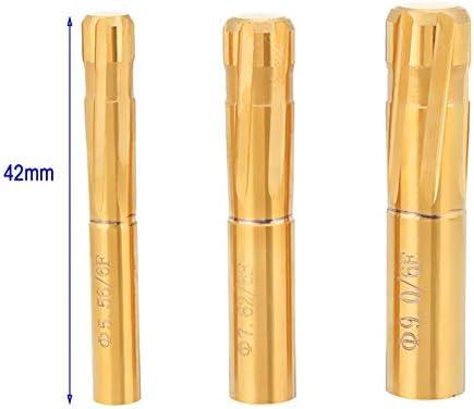 GENERICS LSB-Werkzeuge, 6 Nuten Nuten Spiralreibahle Rifling Buttons 5.81-9.35mm Doppelschicht-Reibahle for Rifled Barrel Machine Tool-Reibahle drücken (Head Diameter : 7.62x7.92mm)