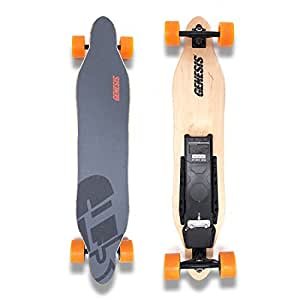 Amazon.com : Genesis Tomahawk Electric Skateboard  Orange Wheels : Sports \u0026 Outdoors