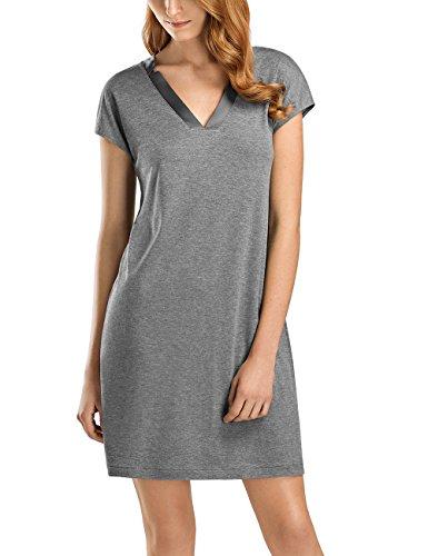 Hanro Women's Ivy Cap Sleeve Gown, Stone Melange, Medium by HANRO