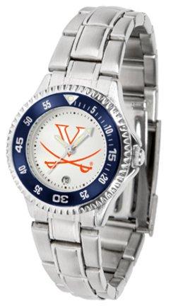 Virginia Cavaliers Competitor Ladies Watch with Steel Band (Virginia Watch Competitor)