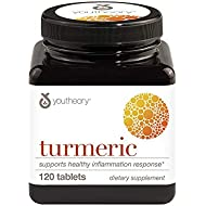 Youtheory Turmeric Advanced With Black Pepper Bioperine, 120 Count