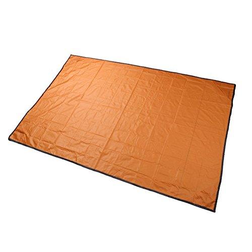 [해외]BESTOMZ 포켓 캠핑 담요 가벼운 방수 비치 피크닉 담요 야외 활동 (오렌지)/BESTOMZ Pocket Camping Blanket Lightweight Waterproof Beach Picnic Blanket for Outdoor Activities (Orange)