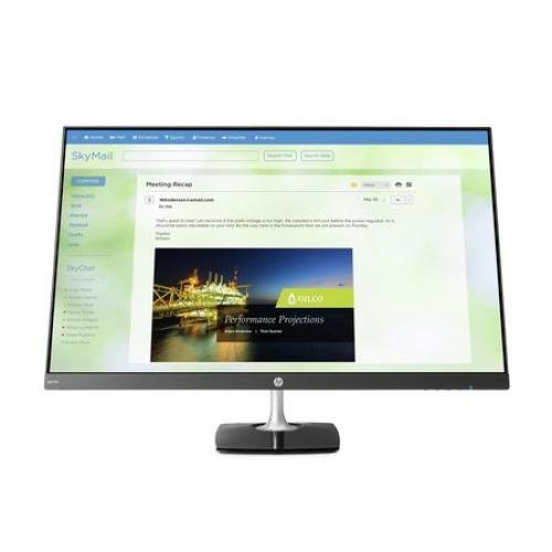 "HP N270h 27"" Full HD Gaming Monitor - 16:9 - 5 ms - 1,000:1 - 250 Nit - 16.7 Million Colors - Anti-Glare - ENERGY STAR 7.0 - Black/Silver"