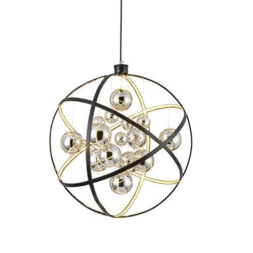 ZHAO YING Araña esférica Led Brillante, lámpara Colgante de Jaula ...
