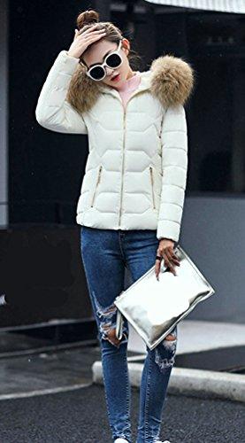 Invierno Chaqueta Capa Para Blanco Capucha Con Mujeres Chaqueta WanYang Mujer Pluma Corta Abrigo Chaqueta De Clásico gI5q4S