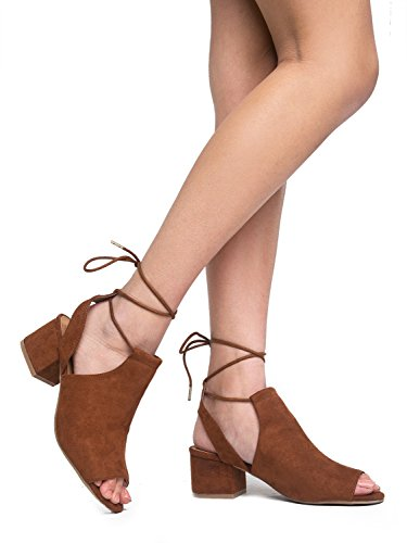 Wayne Lace Up Sandal, Camel Suede, 10 B(M) US (How To Wear Thigh High Boots)
