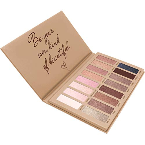 Best Pro Eyeshadow Palette Makeup - Matte Shimmer 16 Colors - Highly Pigmented - Professional Nudes Warm Natural Bronze Neutral Smoky Cosmetic Eye Shadows (Best Warm Eyeshadow Palette)