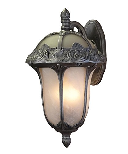 - Special Lite Products Rose Garden F-3711-SW/AB Large Top Mount Light, Swedish Silver