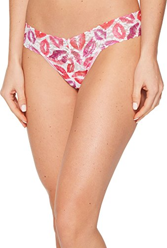 Hanky Panky Women's Love & Kisses Low Rise Thong Pink Multi One Size ()