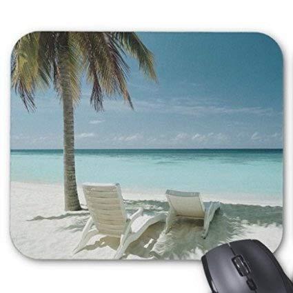 Cojin de raton de la Silla de la Palmera y de Playa