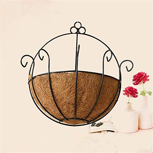 New Wall Decoration Wall Hanging Rattan Iron Flower Basket Meat Plant Basket Flower Home Plant Decoration Flower Basket Hot - (Color: Size 25cm)