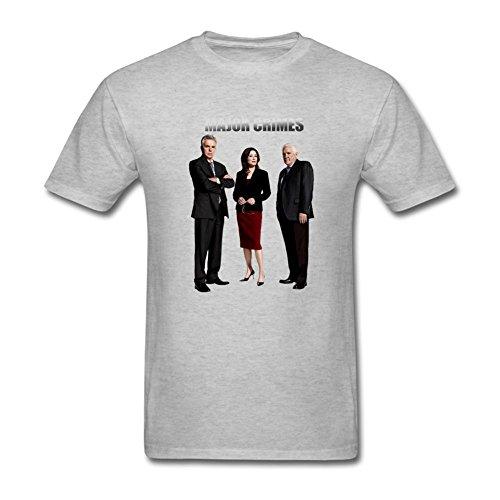 ZHENGXING Men's Major Crimes Logo T-Shirt XXL ColorName Short Sleeve (Major Johnson T-shirt)