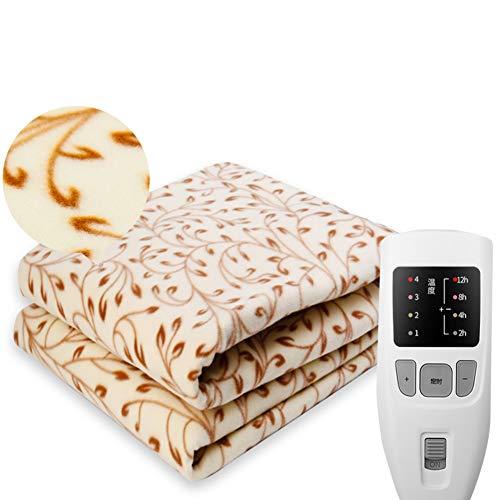 GX&XD Ultra-Soft Heated Blanket Digital Controllers,Waterproof Electric Throw Plush Heated Throw Warming Mattress pad(Full Twin Queen)-A 120x180cm(47x71inch)